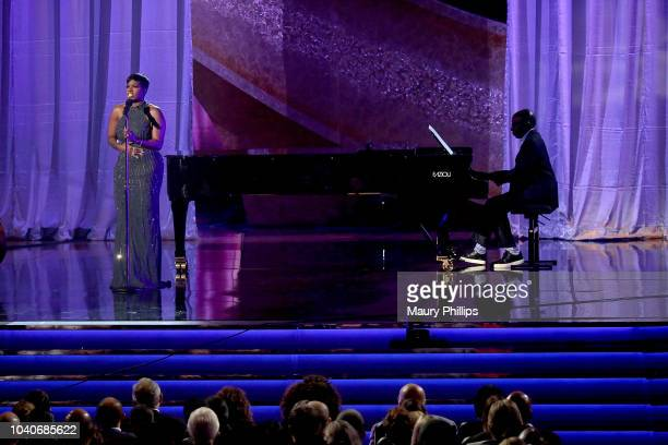 Fantasia Barrino at Q 85 A Musical Celebration for Quincy Jones presented by BET Networks at Microsoft Theater on September 25 2018 in Los Angeles...