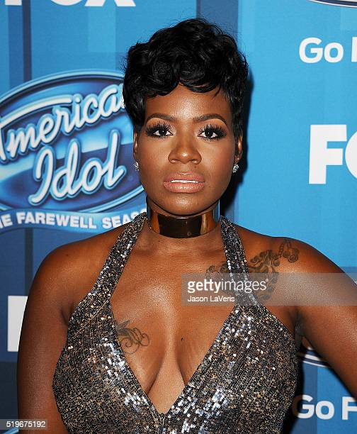 Fantasia Barrino attends FOX's American Idol finale for the farewell season at Dolby Theatre on April 7 2016 in Hollywood California