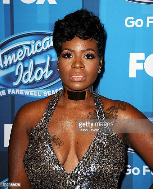 Fantasia Barrino attends FOX's 'American Idol' finale for the farewell season at Dolby Theatre on April 7 2016 in Hollywood California