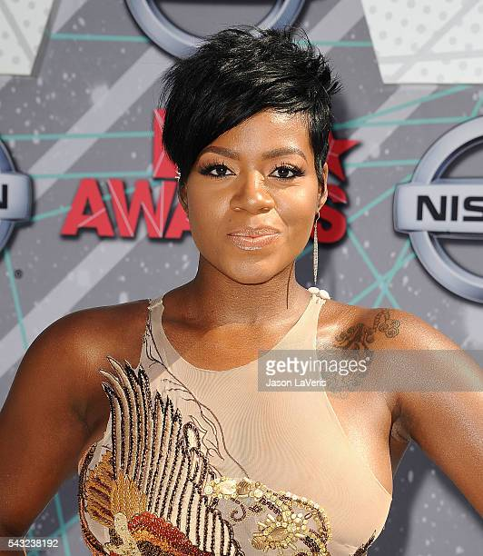 Fantasia Barrino attends the 2016 BET Awards at Microsoft Theater on June 26 2016 in Los Angeles California