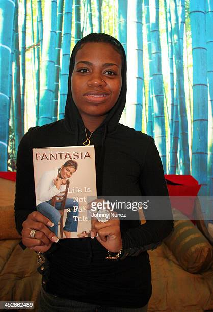 Fantasia Barrino during Fantasia Barrino Signs Her Book Life is Not a Fairy Tale December 16 2005 at Carols Daughter Harlem Flagship Store in New...