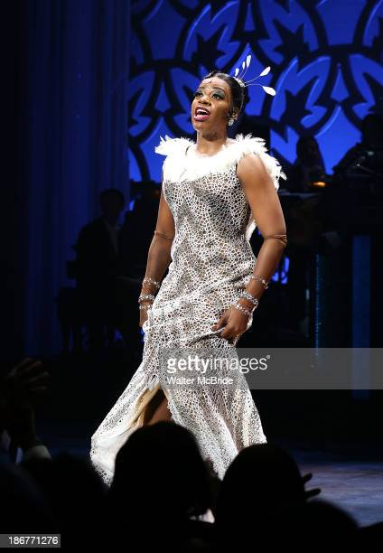 Fantasia Barrino during the Broadway Opening Night Performance Curtain Call for 'After Midnight' at Brooks Atkinson Theatre on November 3 2013 in New...