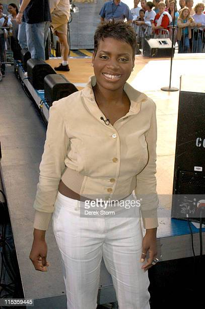 Fantasia Barrino during The 'Today' Show's 2004 Summer Concert Series Fantasia Barrino at Rockefellar Plaza in New York City New York United States