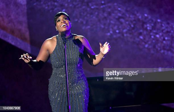 Fantasia Barrino performs onstage at Q85 A Musical Celebration for Quincy Jones at the Microsoft Theatre on September 25 2018 in Los Angeles...