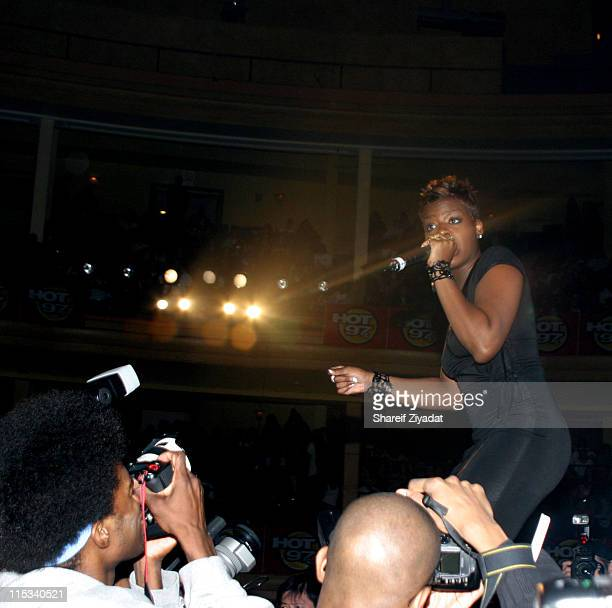 Fantasia during Full Frontal Hip Hop Presented by Hot 97 at Hammerstien Ballroom in New York City New York United States