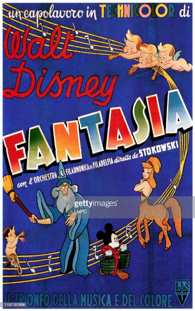 Fantasia Poster Mickey Mouse Featured On 1952 News Photo Getty Images