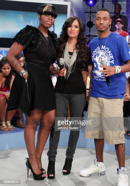 Fantasia Rocsi and Terence J visit BET's 106 Park at BET Studios on September 8 2010 in New York City