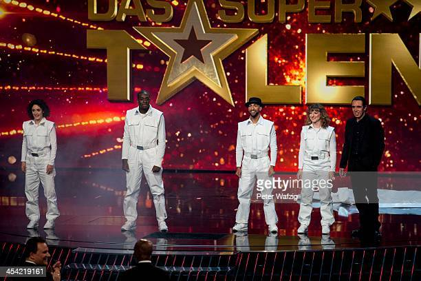 Fantastic 5 perform during the second Semifinal of 'Das Supertalent' TV Show on December 07 2013 in Cologne Germany