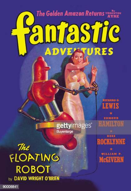 Fantastic Adventures Floating Robot and Woman