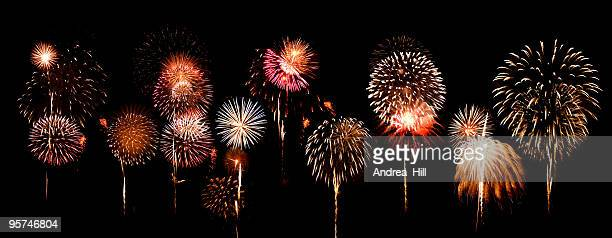 fantastic and colorful fireworks display - fireworks stock pictures, royalty-free photos & images