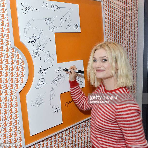 'Fantastic Beasts and Where to Find Them' cast member Allison Sudol visits the Fandango Studio at San Diego ComicCon International 2016 on July 23...