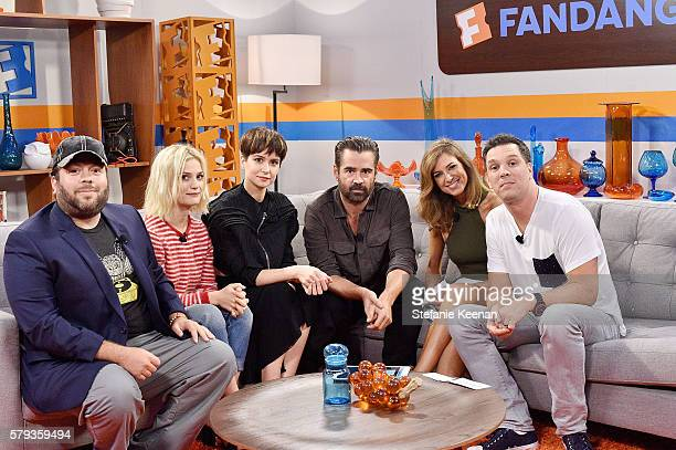 'Fantastic Beasts and Where to Find Them' cast members Colin Farrell Allison Sudol Dan Fogler and Katherine Waterston visit with Nikki Novak and...