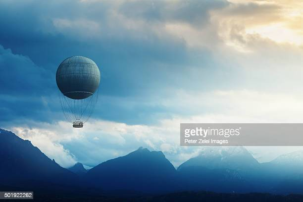 fantastic journey - hot air balloon stock pictures, royalty-free photos & images