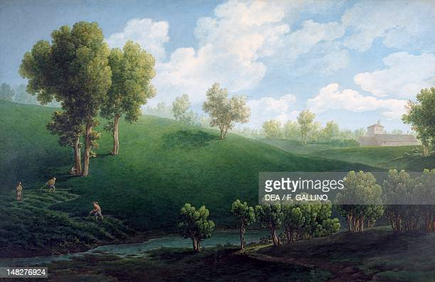 A fantastic landscape by Giuseppe Pietro Bagetti Turin Palazzo Reale