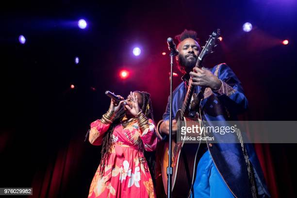 Fantastic Negrito and Candice Antique Davis perform at The Fillmore on June 15 2018 in San Francisco California
