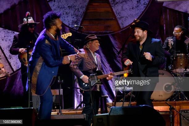 Fantastic Negrito and Nathaniel Rateliff perform onstage during the 2018 Americana Music Honors and Awards at Ryman Auditorium on September 12 2018...