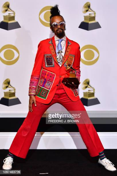 Fantastic Negrito for Contemporary Blues Album poses in the press room during the 61st Annual Grammy Awards on February 10 in Los Angeles