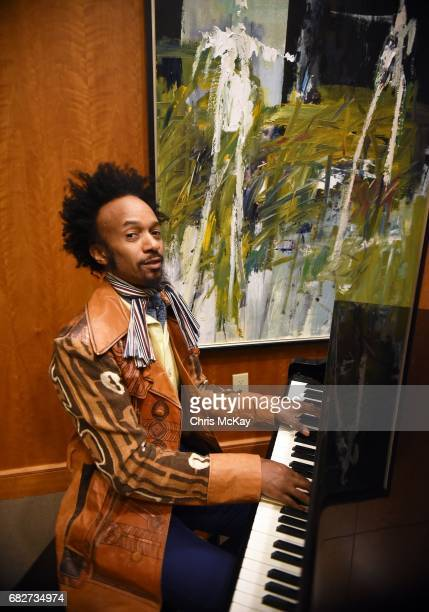 Fantastic Negrito performs an impromptu surprise concert on the hotel lobby piano prior to his performance at Shaky Knees Music Festival at...