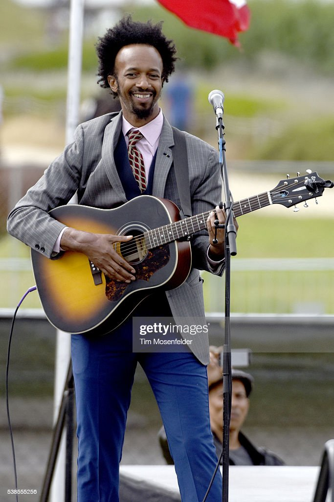 Fantastic Negrito performs during Bernie Sanders, 'A future to believe in San Francisco GOTV Concert' at Crissy Field San Francisco on June 6, 2016 in San Francisco, California.