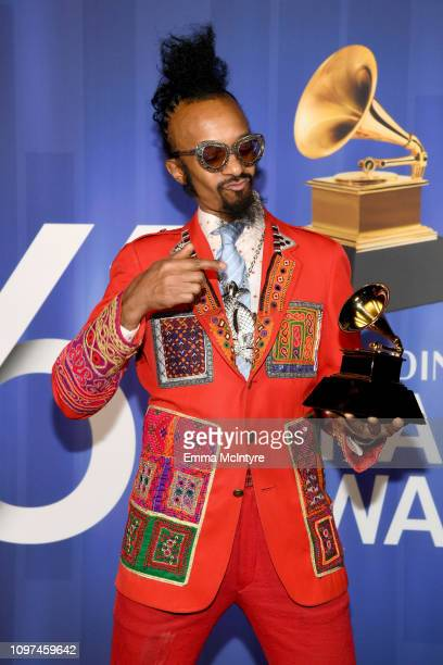 Fantastic Negrito poses with his award at the 61st Annual GRAMMY Awards Premiere Ceremony at Microsoft Theater on February 10 2019 in Los Angeles...