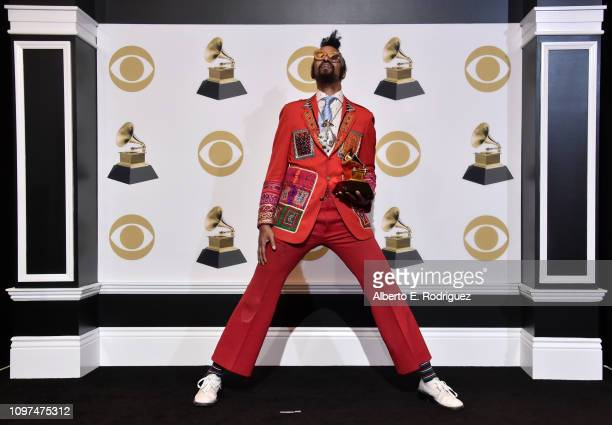 Fantastic Negrito winner of Best Contemporary Blues Album for 'Please Don't Be Dead' poses in the press room during the 61st Annual GRAMMY Awards at...