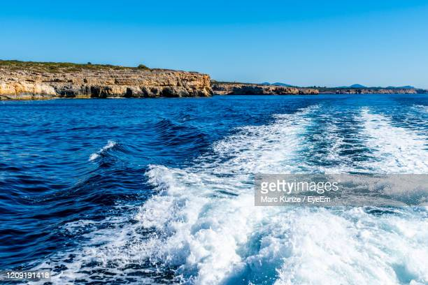 fantastic sea view east coast mallorca - manacor stock pictures, royalty-free photos & images