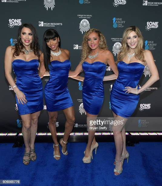 'Fantasy' cast members Jennifer Delicia Lorena Peril and Soolin attend the sixth annual 'One Night for One Drop' imagined by Cirque du Soleil a show...