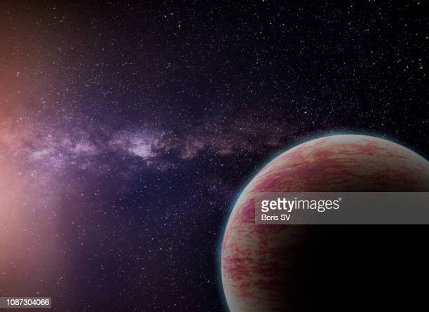 fantasy exoplanet - extrasolar planet stock pictures, royalty-free photos & images