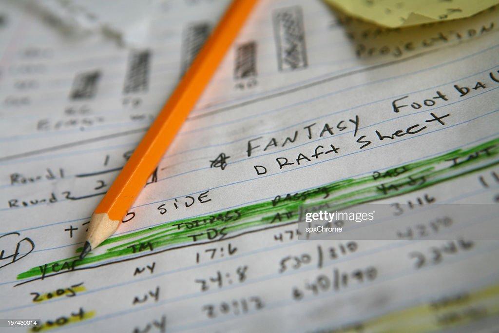 Fantasía notas de fútbol   Foto de stock 4d90bef33989b