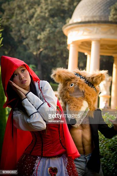 fantasy - big bad wolf stock photos and pictures