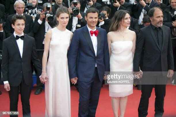 Fantin Ravat Marine Vacth director Francois Ozon Geraldine Pailhas and Frederic Pierrot attend the 'Jeune Jolie' premiere during The 66th Annual...