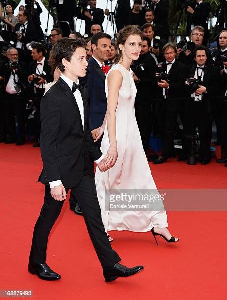 Fantin Ravats director Francois Ozon and Marine Vactha attend the Premiere of 'Jeune Jolie' at The 66th Annual Cannes Film Festival at Palais des...