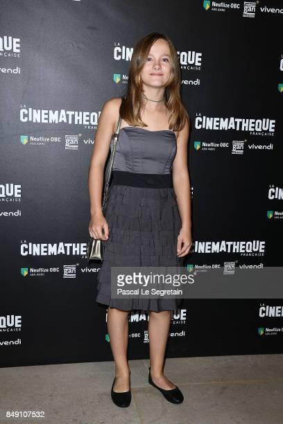 Fantine Harduin attends Happy End Paris Premiere at la cinematheque on September 18 2017 in Paris France