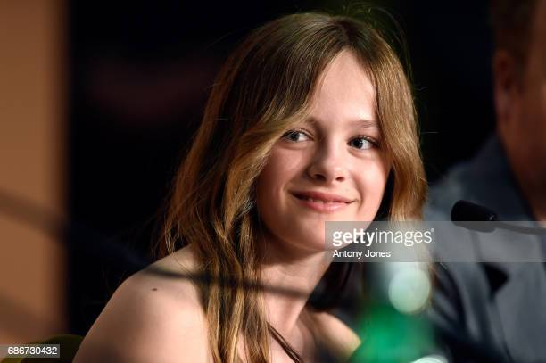 Fantine Harduin attends the Happy End press conference during the 70th annual Cannes Film Festival on May 22 2017 in Cannes France