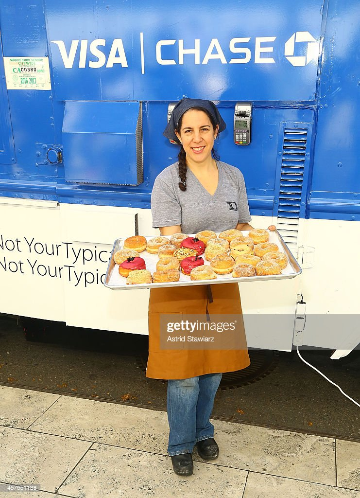 Fany Gerson teams up with Visa and Chase to celebrate the launch of Apple Pay with free doughnuts for all New Yorkers from Dough on October 20, 2014 in New York City.