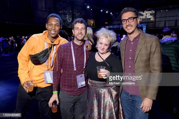 Fanyana Hlabangane Pierre de Villiers Cait Pansegrouw and Elias Ribeiro attends the 2020 Sundance Film Festival Awards Night Party at Basin...