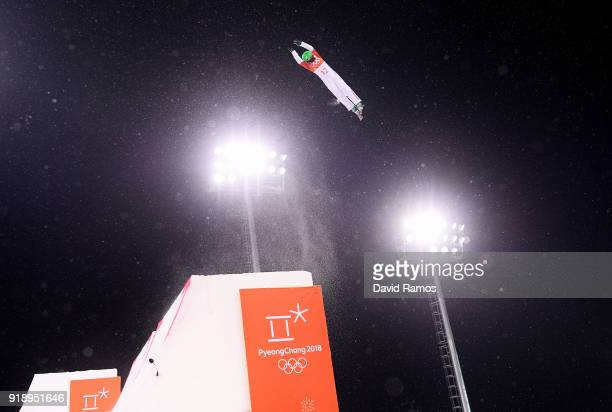 Fanyu Kong of China competes during the Freestyle Skiing Ladies' Aerials Final on day seven of the PyeongChang 2018 Winter Olympic Games at Phoenix...