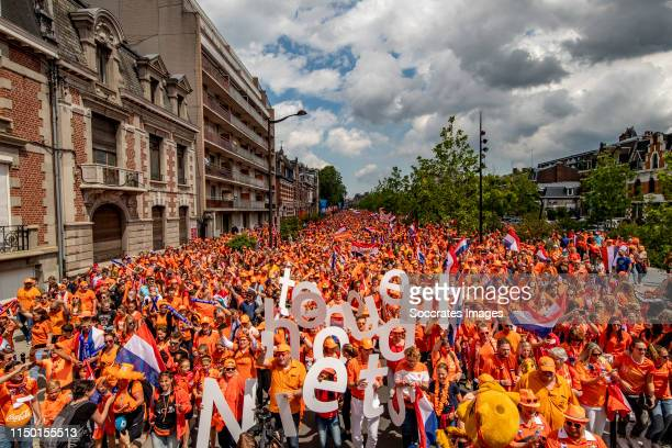 Fanzone en Parade Holland Supporters in Vlaneciennes during the Fanzone ParadeFanzone and Parade Holland Supporters at the Valenciennes on June 15...