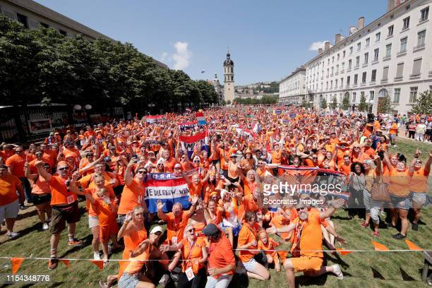 Fanzone Holland Supporters in Lyon during the Fanzone - ParadeFanzone Holland Supporters Lyon at the City Centre Lyon on July 7, 2019 in Lyon France