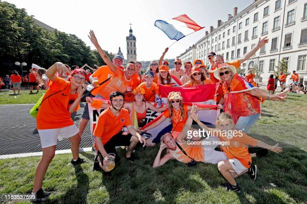 Fanzone Holland supporters Lyon during the Fanzone ParadeFanzone and Parade Holland Supporters Lyon at the City Centre Lyon on July 3 2019 in Lyon...
