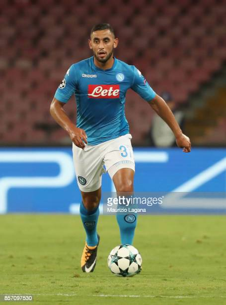 Faouzi Ghoulam during the UEFA Champions League group F match between SSC Napoli and Feyenoord at Stadio San Paolo on September 26 2017 in Naples...