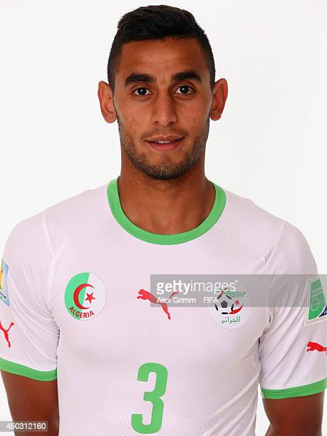 Faouzi Ghoulam of Algeria poses during the official FIFA World Cup 2014 portrait session on June 8 2014 in Sao Paulo Brazil