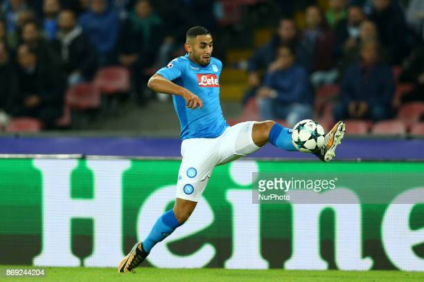 Faouzi Ghoulam of Napoli at San Paolo Stadium in Naples Italy on November 1 2017