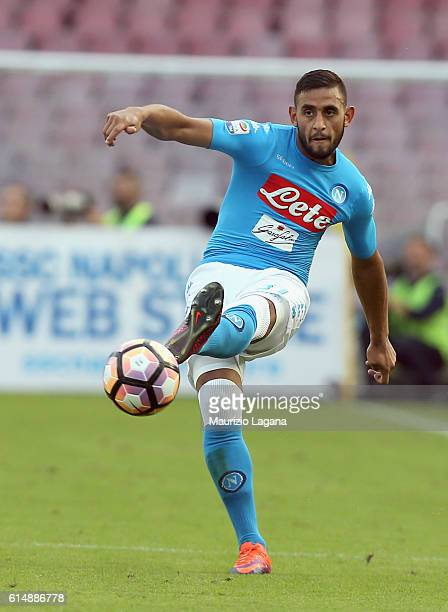 Faouzi Ghoulam of Napoli during the Serie A match between SSC Napoli and AS Roma at Stadio San Paolo on October 15 2016 in Naples Italy
