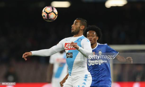 Faouzi Ghoulam of Napoli during the Serie A match between SSC Napoli and Juventus FC at Stadio San Paolo on April 2 2017 in Naples Italy