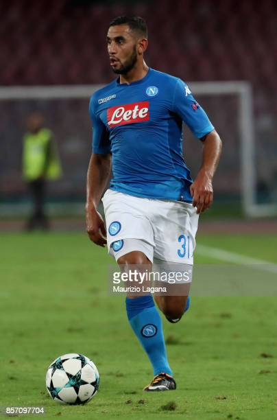 Faouzi Ghoulam of Napoli during the UEFA Champions League group F match between SSC Napoli and Feyenoord at Stadio San Paolo on September 26 2017 in...
