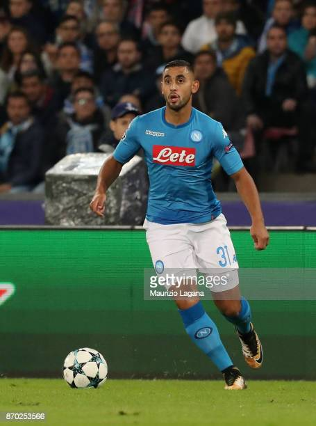 Faouzi Ghoulam of Napoli during the UEFA Champions League group F match between SSC Napoli and Manchester City at Stadio San Paolo on November 1 2017...