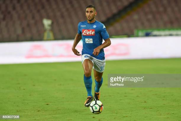 Faouzi Ghoulam of SSC Napoli during the Preseason Frendly match between SSC Napoli and RCD Espanyol at Stadio San Paolo Naples Italy on 10 August 2017