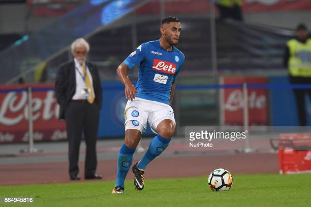 Faouzi Ghoulam of SSC Napoli during the Serie A TIM match between SSC Napoli and FC Internazionale at Stadio San Paolo Naples Italy on 22 October 2017