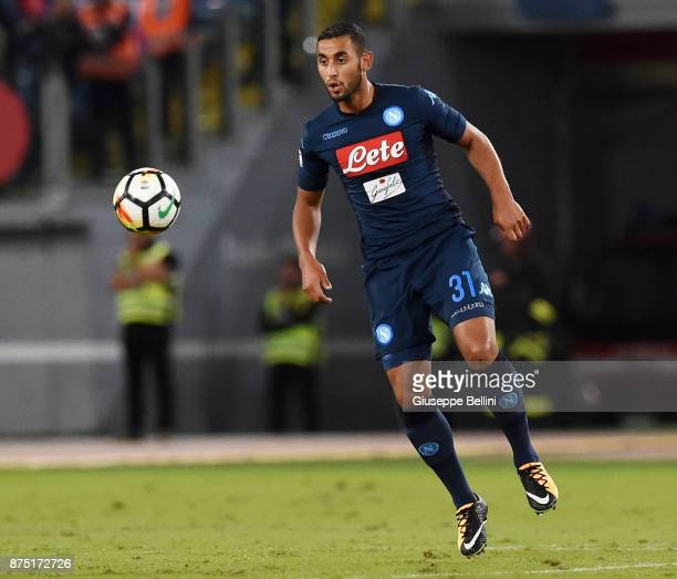 Faouzi Ghoulam of SSC Napoli in action during the Serie A match between SS Lazio and SSC Napoli at Stadio Olimpico on September 20 2017 in Rome Italy